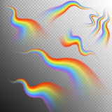 Rainbows object set. EPS 10. Vector file included Stock Image