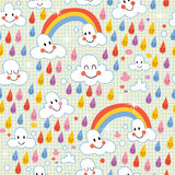 Rainbows pattern Stock Photography