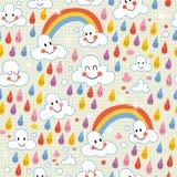 Rainbows pattern royalty free illustration