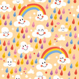 Rainbows pattern Stock Photos