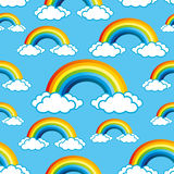 Rainbows pattern for seamless background. Stock Image
