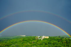Rainbows after rain Royalty Free Stock Photography