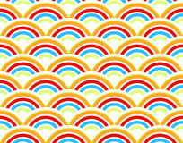 Rainbows seamless pattern Stock Images