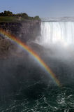 Rainbw on the fall. Nice Niagara falls rainbow view royalty free stock photo