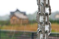 Rainchain во время шторма Стоковое фото RF