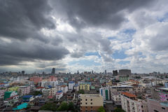 Raincloud. In the city thailand Royalty Free Stock Image