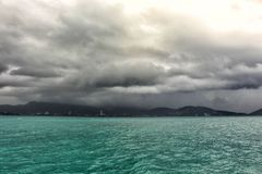Raincloud. At Patong phuket Thailand Stock Photos