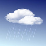 Raincloud and rain in the blue sky Royalty Free Stock Photography