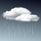 Raincloud and rain in the dark sky Stock Photography