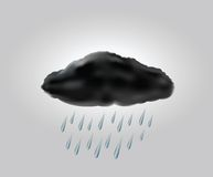Raincloud with raindrops in the dark sky Stock Photography