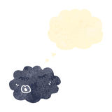 Raincloud retro cartoon Stock Image