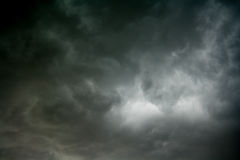 Raincloud. The sky before the rainy and overcast Stock Photography