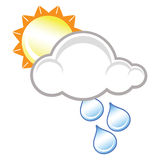 Raincloud and sunshine Stock Images