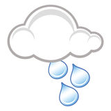 Raincloud symbol Stock Photo