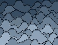 Rainclouds. Editable vector illustration of dark heavy clouds Royalty Free Stock Images