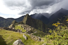 Rainclouds above Machu Picchu, Peru Royalty Free Stock Photo