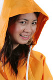 Raincoat Girl Stock Photography