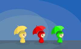 Raincoat Girl Royalty Free Stock Image