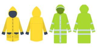 raincoat Illustrazione di vettore isolata su bianco Copre il protec royalty illustrazione gratis