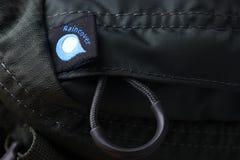 Raincover symbol för ryggsäck Arkivfoton