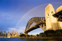 Raindbow Harbour Bridge Royalty Free Stock Photos