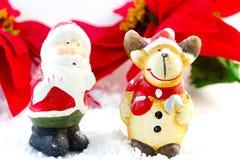 Raindeer ed il Babbo Natale Immagine Stock