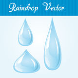 Raindrop. Blue and white raindrop over blue background stock illustration