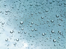 Raindrop. On the mirror ,Rainny royalty free stock photo