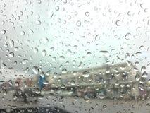 Raindrop na okno Zdjęcia Royalty Free