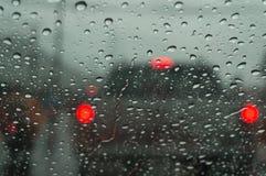 Raindrop na samochodowym okno Obraz Royalty Free