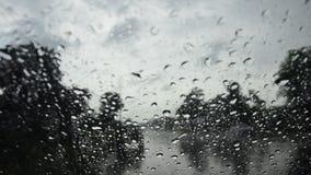 Raindrop na szkło przodzie mój samochód zbiory