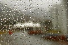 Raindrop na szkle Fotografia Stock