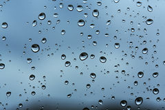 Raindrop patterns Stock Photography
