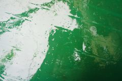 Raindrop on plastic after the morning rain, wet green plastic after rain stock images