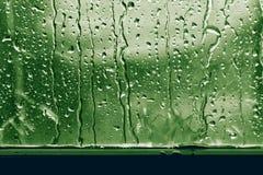 Background raindrop on window glass green fresh royalty free stock photos