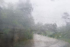 Raindrop on the window Stock Images