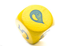 Raindrop and Yellow Dice Stock Image