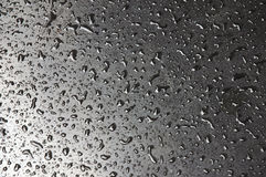 Raindrops. At the table Royalty Free Stock Image