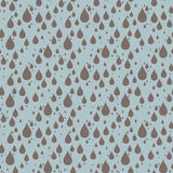 Raindrops. Background with seamless pattern of raindrops stock illustration