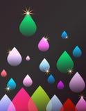 Raindrops abstrakcjonistyczny Tło ilustracji