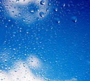 Raindrops background. Background from raindrops on glass after rain Stock Photography