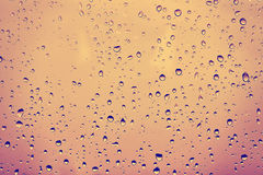 Raindrops on a dusty glass. Stock Image