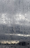 Raindrops on Glass  Royalty Free Stock Photo