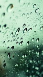 Raindrops on glass Stock Photography