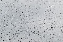 Raindrops on glass. Texture of rain drops on the glass Stock Photography