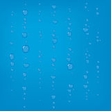 Raindrops on glass. Royalty Free Stock Images