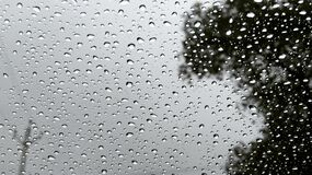 Raindrops on Glass Royalty Free Stock Images