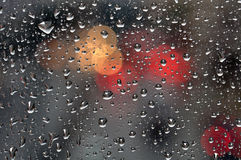 Raindrops on glass background Royalty Free Stock Photography