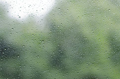 Raindrops on glass background Stock Photo