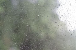 Raindrops on glass background Royalty Free Stock Images